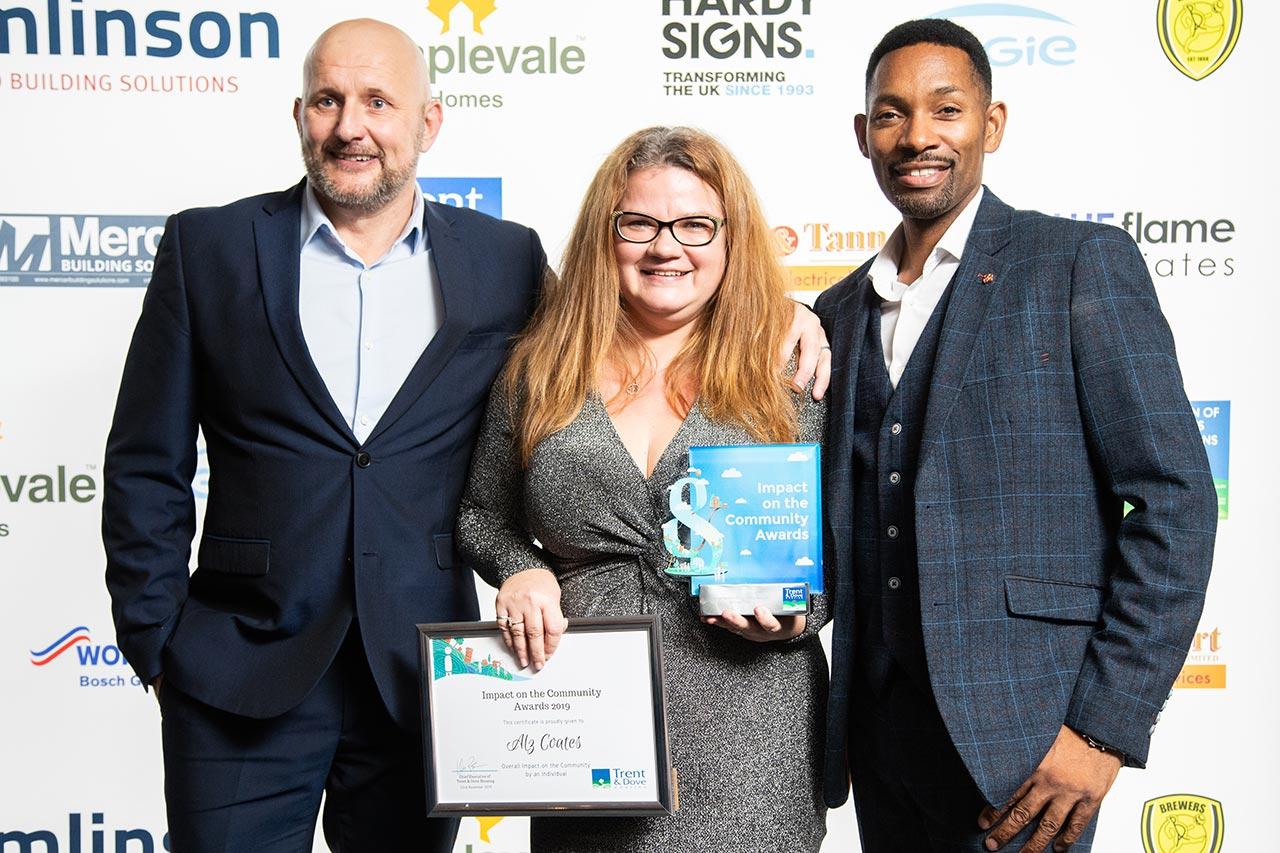 Alz Coates wins Community Award