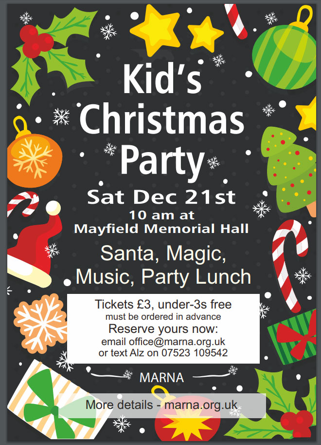 Children's Christmas Party in Mayfield, Staffordshire