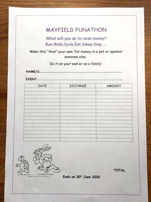 mayfield funathon form